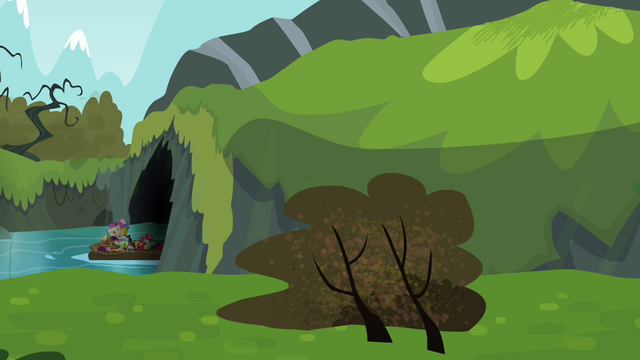 File:Apple family raft entering the cave S4E09.png