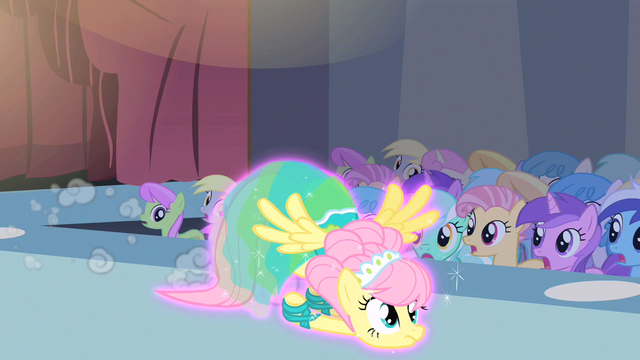 File:Fluttershy magically dragged S1E20.png