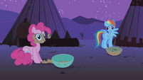 Pinkie Pie loves the buffalo's food S1E21