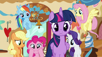 Pinkie excited that the secret is about to be revealed S5E19
