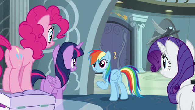 "File:Rainbow Dash ""not much to tell"" S6E7.png"