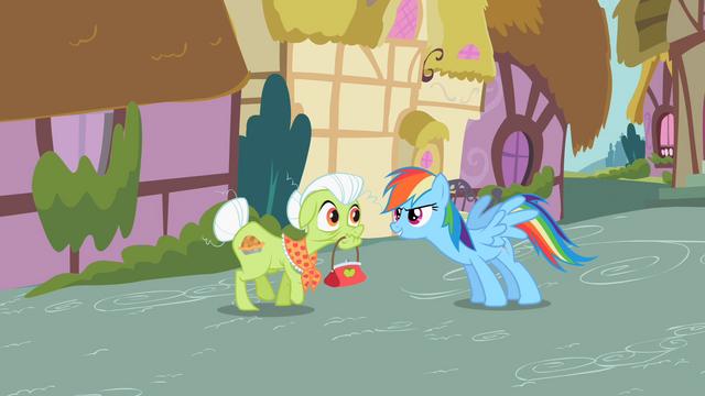 File:Rainbow Dash & Granny Smith S2E8.png