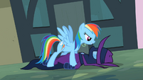 Rainbow Dash holds down Mare Do Well S2E8