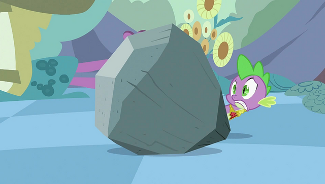 File:Spike popping up from behind the rock S2E02.png