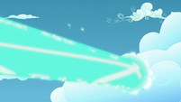Starlight's magic beam goes through a cloud S5E26