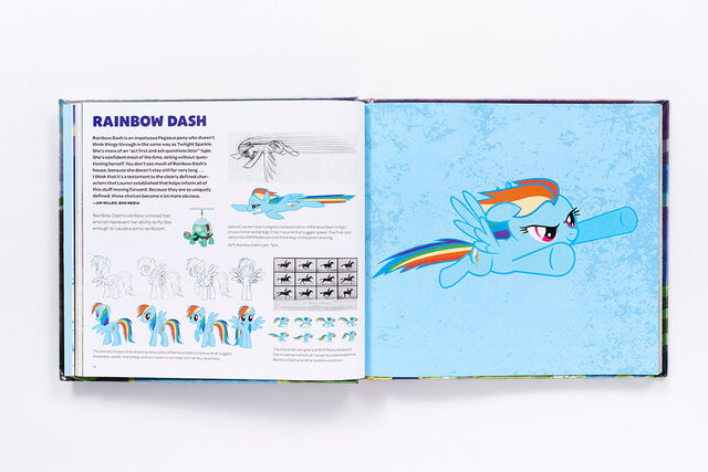 File:Art of Equestria page 54-55 - Rainbow Dash concept art.jpg