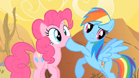 Rainbow Dash Shushing Pinkie Pie S1E21