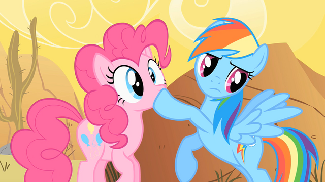 File:Rainbow Dash Shushing Pinkie Pie S1E21.png
