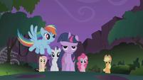 Rainbow Dash describing her rescue S1E02
