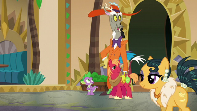 File:Discord and Big Mac look at attractive mare S6E17.png