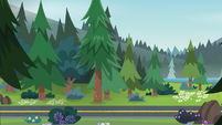 Legend of Everfree background asset - wooded highway 2
