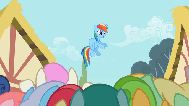 File:Rainbow Dash enjoying the attention S2E08.png