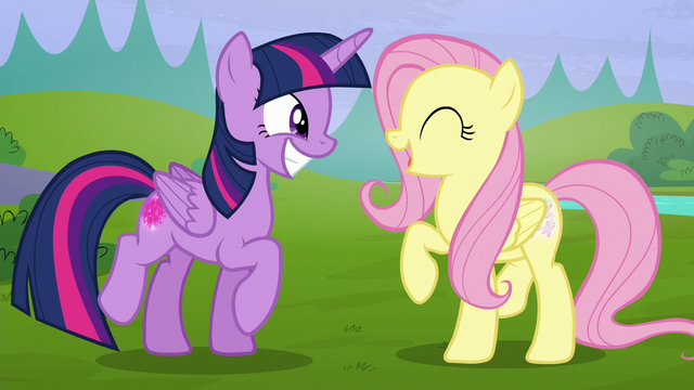 File:Twilight and Fluttershy smiling wide S5E23.png