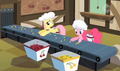 Pinkie Pie & Fluttershy working S2E14.png