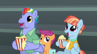 Bow and Windy enraptured by the Wonderbolts S7E7