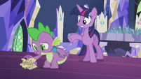 Spike picking up the crumpled scroll S5E25