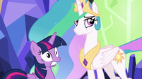Twilight Sparkle in nervous shock S7E1