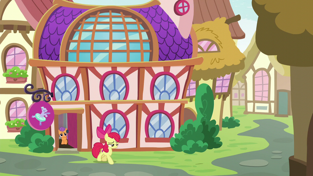 File:Apple Bloom leaving the dance school S6E4.png