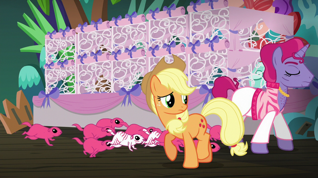 File:Applejack watches trainer 2 and Flying Prairinos leave S6E20.png