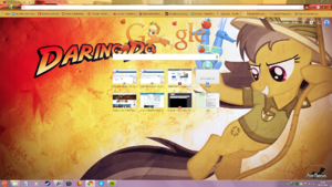 FANMADE Google Chrome background featuring Daring Do
