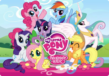 File:Main characters and Celestia around logo.jpg