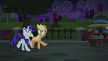 Applejack and Rarity's cutie marks shimmer again S5E16.png