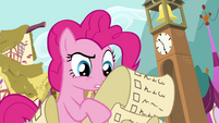 Pinkie Pie checking party list S4E12