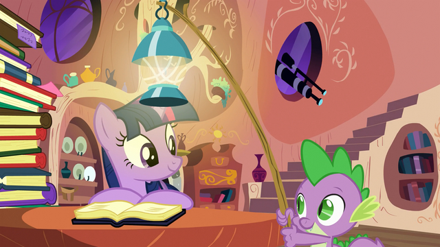 File:Spike brings a lantern for Twilight S03E09.png