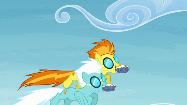 File:Spitfire and Fleetfoot about to eat the muffins S4E10.png