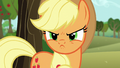 Applejack scowling at Starlight S6E6.png