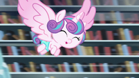 Flurry Heart flying happily S6E2