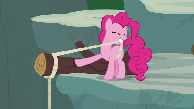 File:Pinkie Pie tying rope around a log S7E5.png