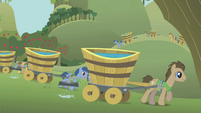 Plant team watering ground S1E11