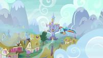 Rainbow follows her cutie mark to the castle S6E24