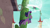 Twilight, Spike, and Starlight get sucked into portal S5E26
