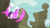 Twilight teleports onto a mountain cliff S6E21