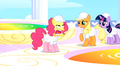 Pinkie Pie with yellow face after tasting rainbow S1E16.png