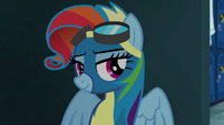 Rainbow Dash with Rarity's mane style S6E7