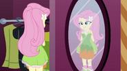 Fluttershy looking in the mirror EG