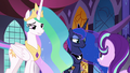 Celestia and Luna listen to Starlight Glimmer S7E10.png