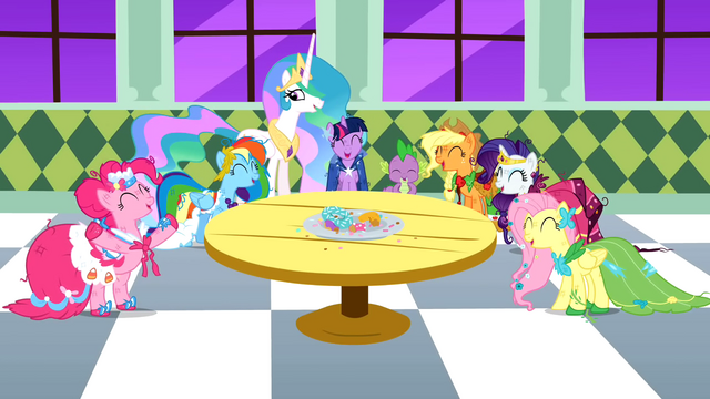 File:Main cast and Celestia laughing S1E26.png