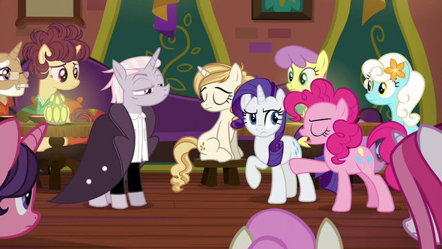 "File:Pinkie Pie adding ""and very strange!"" S6E12.png"