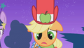 Applejack realizes she looks bad in the dress S1E14.png
