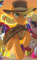 Comic issue 25 Applejack as Man with No Name