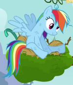 Rainbow Dash derpy eyes crop S4E04