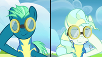 Sky Stinger and Vapor Trail lower their goggles S6E24