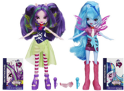 Sonata Dusk and Aria Blaze Equestria Girls Rainbow Rocks dolls