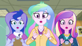 Celestia, Luna, and Cadance drop their clipboards EG3.png