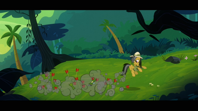 File:Daring Do bringing the arrows down to the ground S4E04.png