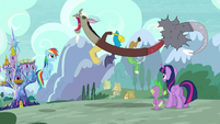 "Discord gets ""snake suit"" out of him S5E22"
